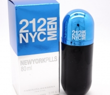 Carolina Herrera 212 VIP PILLS 80ml blue фото